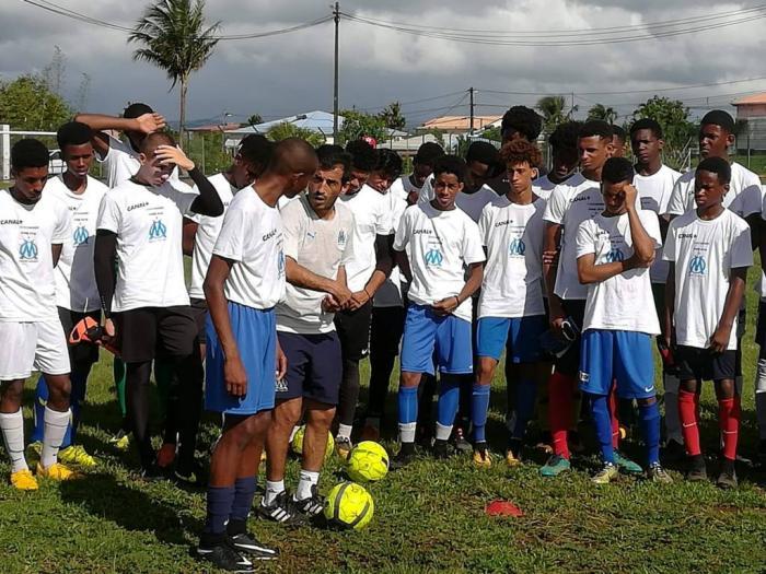 L'Olympique de Marseille organisait un stage de détection de jeunes footballeurs en Martinique