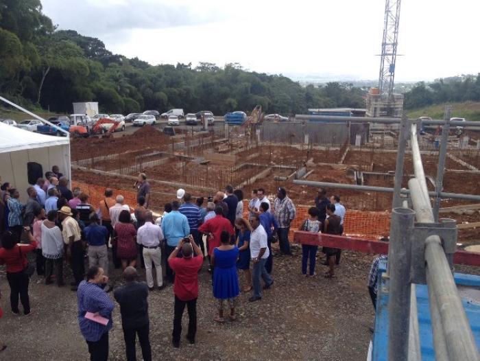 La construction du nouvel hôpital à Saint-Joseph a débuté