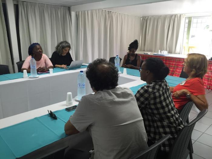La députée de la France Insoumise Danièle Obono est en visite en Guadeloupe