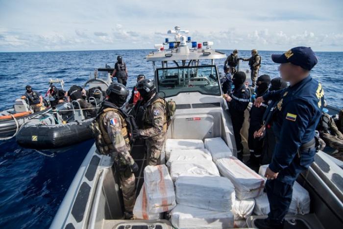 La marine nationale saisit 780 kilos de cocaïne au nord de la Colombie