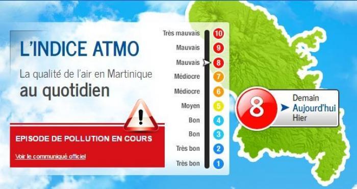 La Martinique connait un phénomène de pollution atmosphérique