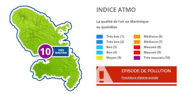 La Martinique en alerte rouge pour la mauvaise qualité de l'air