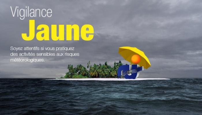 La Martinique est maintenue en vigilance jaune pour fortes pluies et orages