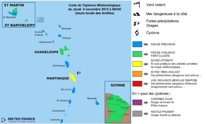 La Martinique reste en jaune !