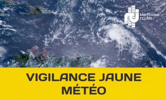La Martinique toujours en vigilance jaune pour fortes pluies et orages, ce samedi