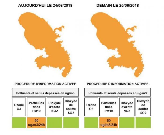 La qualité de l'air reste médiocre en Martinique