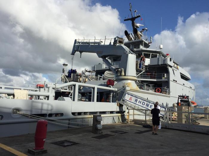 Le bâtiment de soutien et d'assistance hauturier (BSAH) de la Marine Nationale est en Martinique