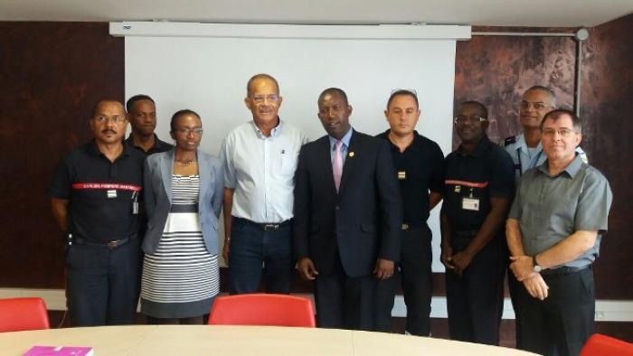 Le directeur général du ministère de l'intérieur et des collectivités territoriales d'Haïti est en Martinique