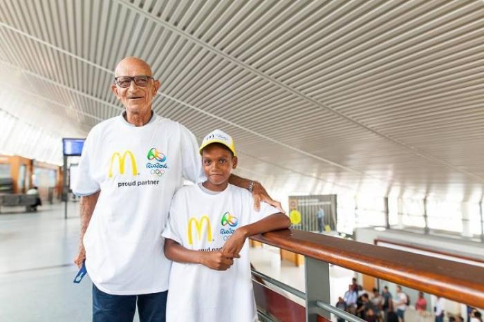 Le jeune martiniquais Ylann est fier d'être à Rio avec son grand-père