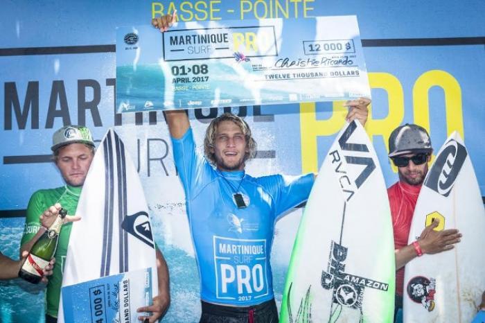 Le Néo-Zélandais Ricardo Christie vainqueur du Martinique Surf Pro 2017