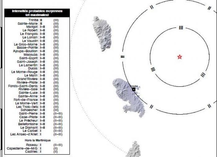 Léger séisme au large de Trinité tôt ce mardi matin (2 août 2016)