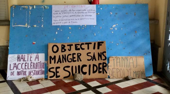 Mobilisation des retraités, ce jeudi matin à Fort-de-France