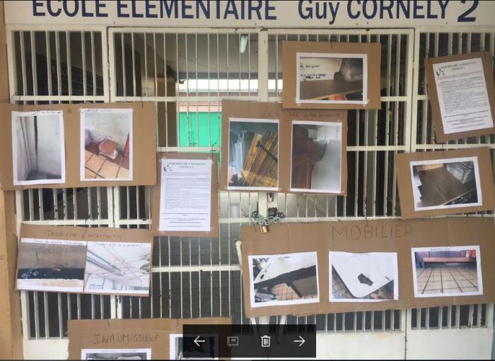 Mobilisation à l'école Guy Cornély du Raizet