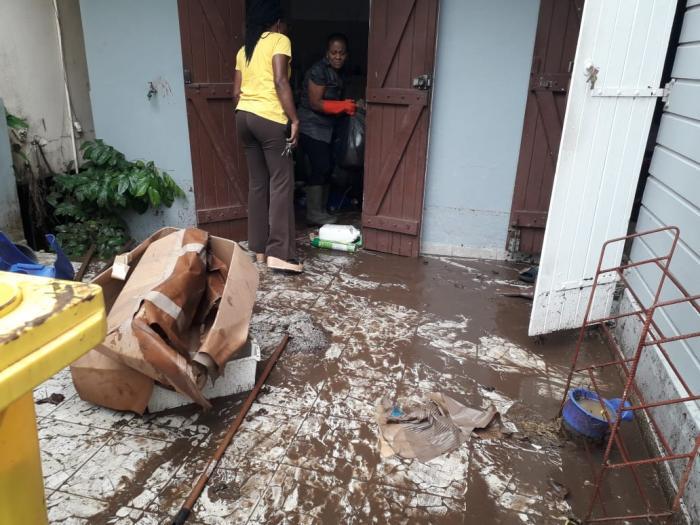 Pas de catastrophe à Rivière-Pilote mais quelques habitations ont été inondées