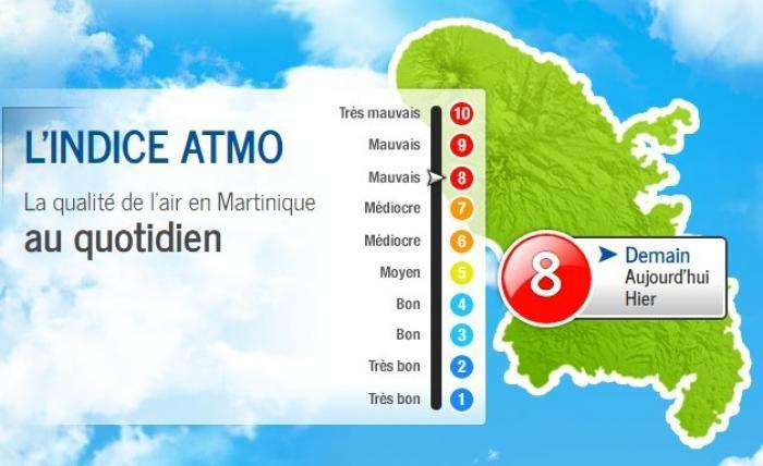 Procédure d'alerte à la pollution déclenchée en Martinique par Madininair