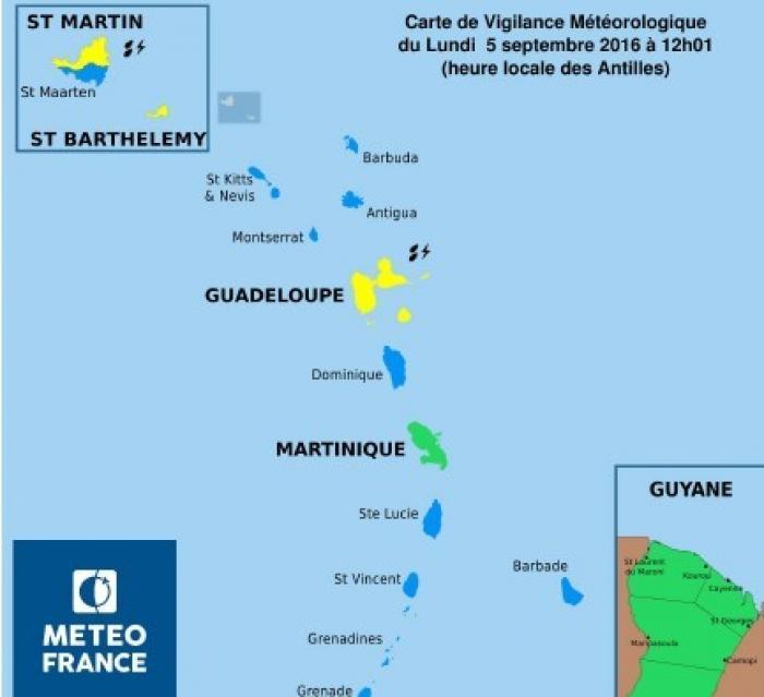 Retour en vigilance verte pour la Martinique
