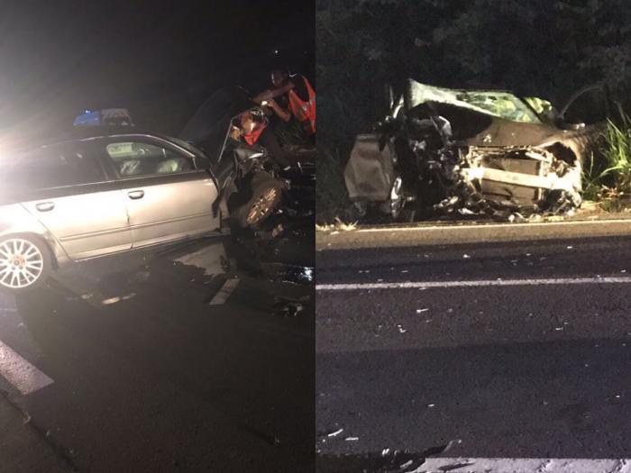 Spectaculaire accident de la route à Sainte-Luce