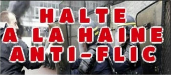 Stop à la violence anti-flic : des policiers devant le commissariat de Fort-de-France