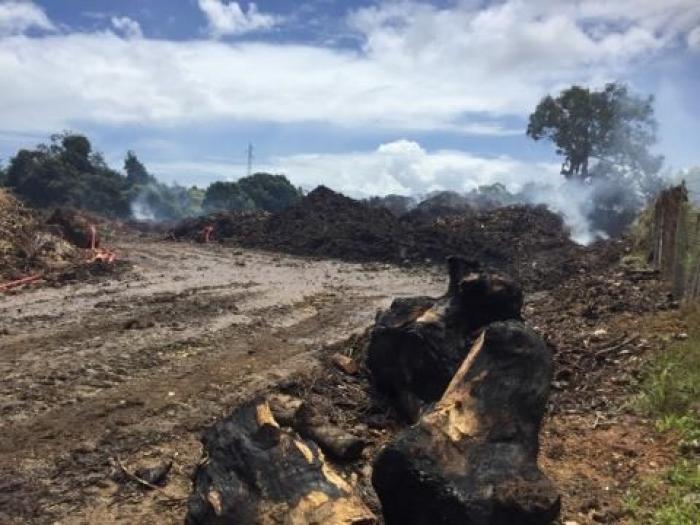 Un incendie à l'usine de compostage de Wonche