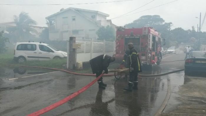 Un incendie s'est déclaré dans une maison au quartier Union au Lamentin