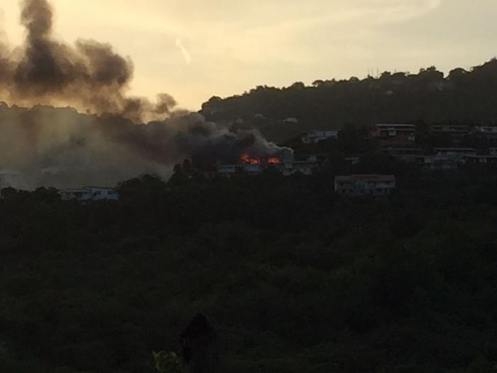 Un incendie s'est déclaré dans une maison à Rivière-Pilote